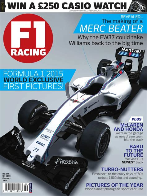 F1 Racing 37 by Williams Fw37 F1 Racing Magazine Cover 2015 183 F1 Fanatic