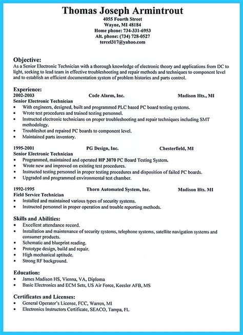 network technician resume technician resume example network cable