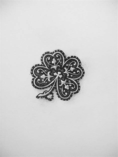 four leaf clover tribal tattoos 25 best ideas about four leaf tattoos on four