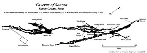 caverns in texas map caverns of sonora texas speleological survey tss cave records publications national