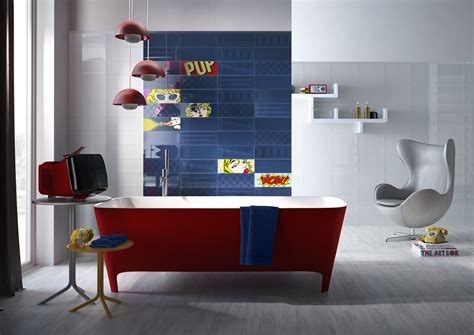 1950s Home Decor by Tiles Inspired By The Pop Art Of Roy Lichtenstein Design