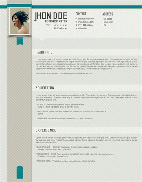 stylish resume templates stylish cv template
