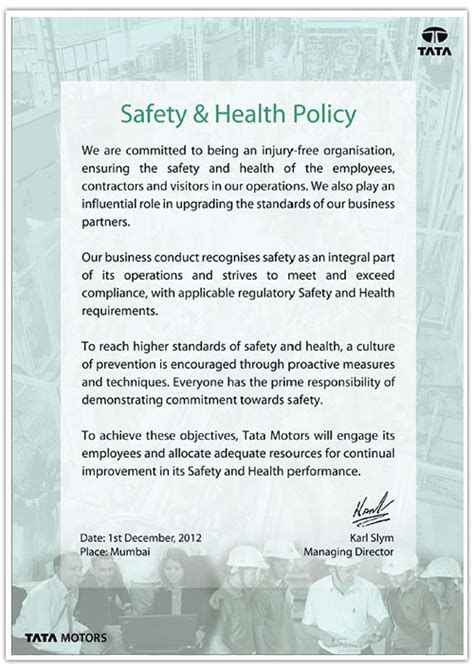 corporate social responsibility policy template sle health and safety policy hazard communication