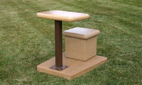 outdoor classroom desk seat doty concrete