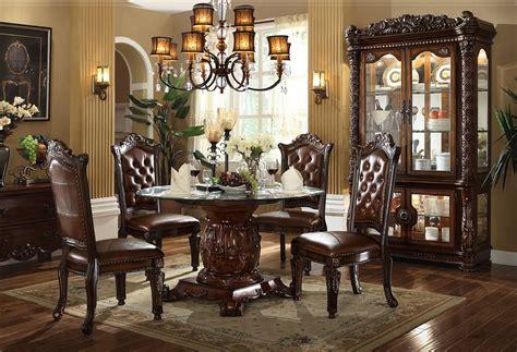 acme dining room furniture acme 62010 round dining set vendome cherry finish