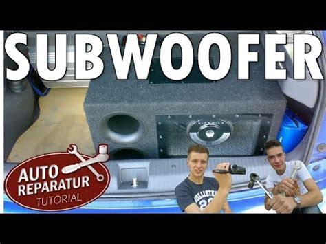 Aktiv Subwoofer Auto Richtig Einstellen by 2 Endstufen Im Auto Verbauen Tutorial Ars24 Musica