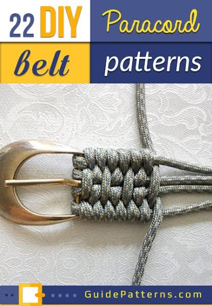 diy paracord belt projects guide patterns