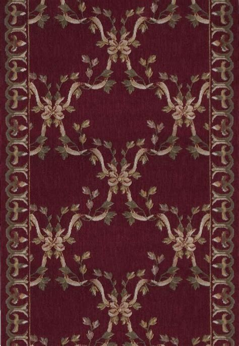 nourison ashton house ar ribbon trellis burgundy  foot