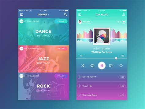 home design colour app music player inspiration muzli design inspiration