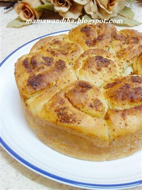 membuat roti garlic dari dapur madihaa garlic rolls without egg