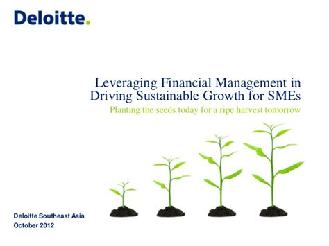 Deloitte Gsap 1 Year Mba by Deloitte Leveraging Financial Management For Growth