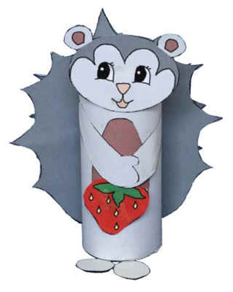 Dltk Paper Crafts - hedgehog toilet paper roll craft