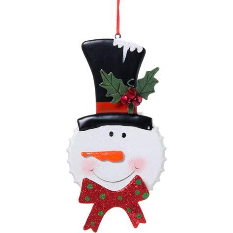 Bottle Ornament metal bottle cap snowman ornament 9725695