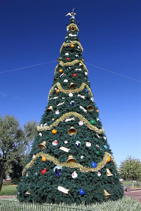 human christmas tree epcot photos new improved epcot tree now on display