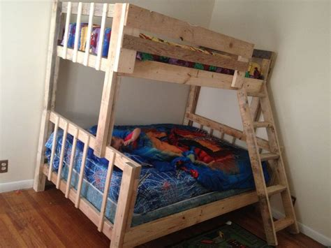 homemade bunk beds diy bunk bed boys bedroom ideas pinterest