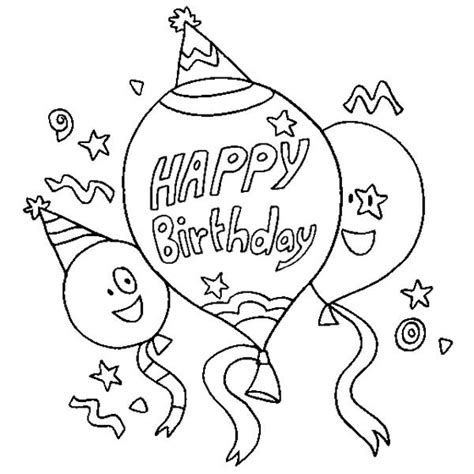 birthday coloring page free happy birthday coloring pages 360coloringpages