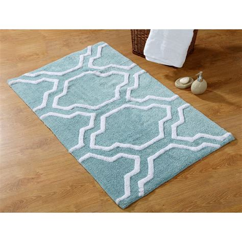 blue and white bathroom rugs saffron fabs 34 in x 21 in and 36 in x 24 in 2 cotton bath rug set in arctic blue and