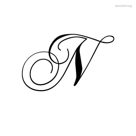 printable letter stencils script fancy diamond lace set fancy free engine image for user