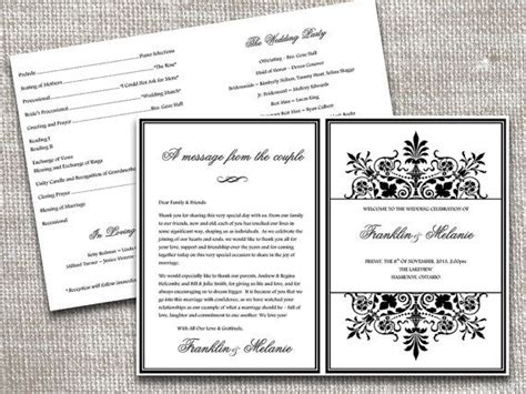 half fold wedding program template fold wedding program template snowflake wedding