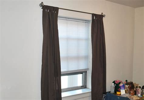 where to hang curtain rod ways to hang curtains without rods soozone