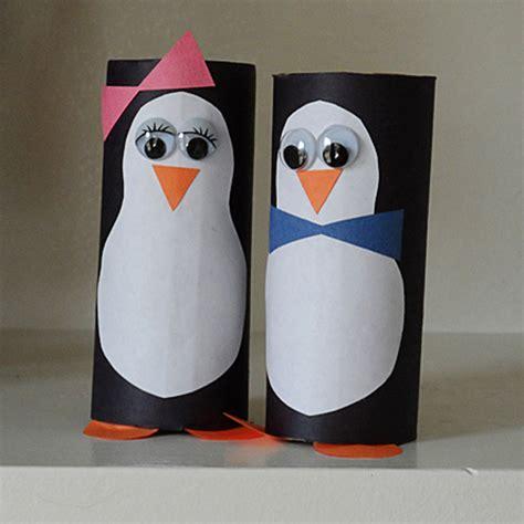 materiel de cing toilette cardboard tube penguins fun family crafts