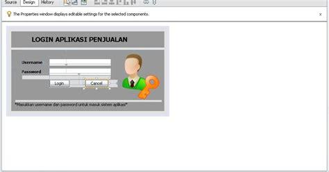 cara membuat form login dengan netbeans dan xp membuat form login dan menu utama aplikasi penjualan