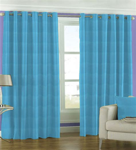 Sky Blue Curtains Skipper Solid Sky Blue Window Curtain 5 Ft By Skipper Window Curtains Furnishings