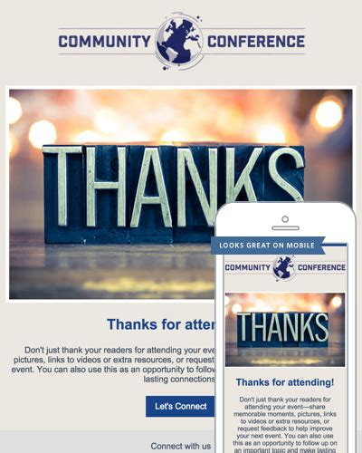 Thank You Email Templates Constant Contact Thanksgiving Email Template For Outlook