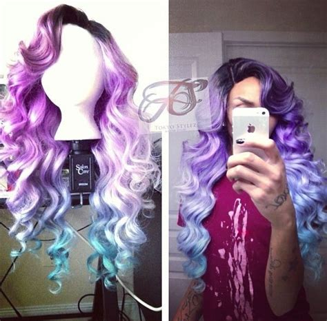 tokyo stylez hair wig pastel purple to blue ombre dip dyed wig costume ideas