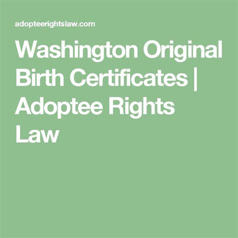 Washington Birth Records Search The 25 Best Birth Certificate Ideas On Obtain