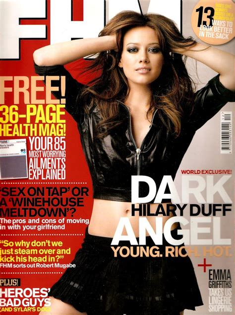 Hilary Duff Keeps Clothes On For Fhm by Hilary Duff Fhm Magazine Circa 2007 Maxim Magazine Back