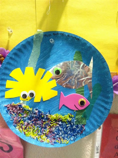 Paper Plate Aquarium Craft - paper plate aquarium summerc my crafts
