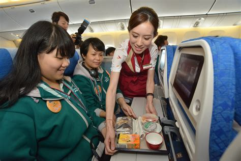 cathay pacific community flight takes to the skies