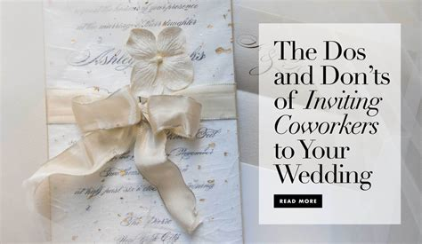 Inviting Coworkers To Wedding