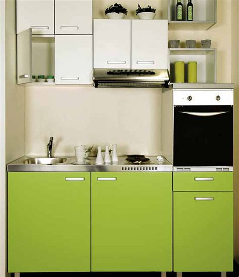 Small Kitchen Design by Modern Green Colours Small Kitchen Interior Design Ideas