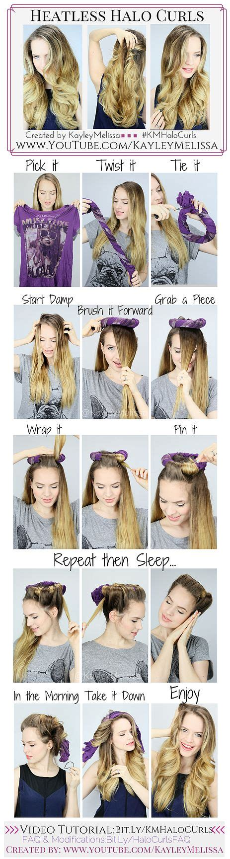 heatless hairstyles for school pinterest kayleymelissa heatless halo curls hair pinterest