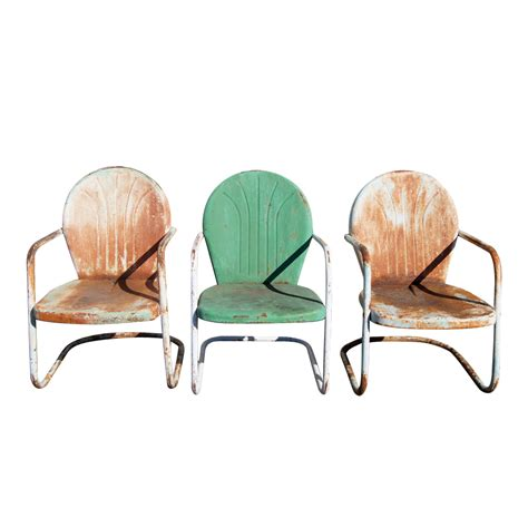 patio metal chairs midcentury retro style modern architectural vintage furniture from metroretro and mcm consignment