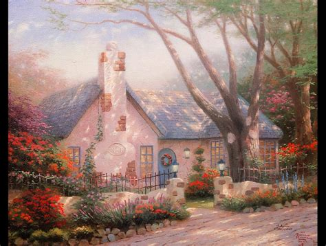 cottage paintings by kinkade the kitsch controversy kinkade family foundation