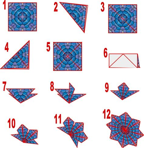 Origami Card Template by Teabag Folding Susan Bluerobot Tea Bag Folding Card