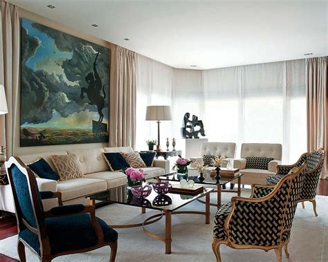 Parisian Living Room by Apartment Interior Design Bill House Plans