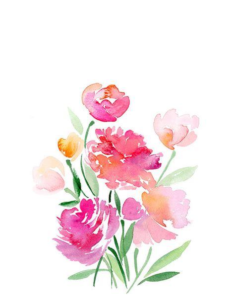 watercolor design tutorial handmade watercolor flower bouquet 8x10 wall art