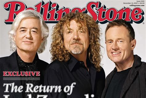 Lepaparazzi News Update Led Zeppelin To Play Comeback Concert by Rolling Cover Story Features Led Zeppelin Rolling
