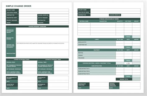 project request form template word complete collection of free change order forms smartsheet