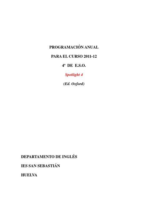 indice de un proyecto 8vo nivel scribdcom 2011 12 ingl 233 s 4 186 eso