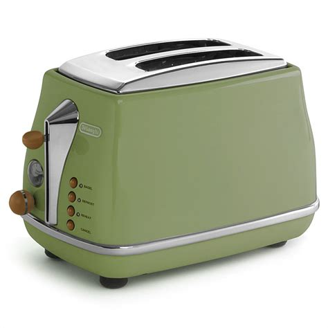 Vintage Toaster Delonghi Icona Vintage Green Two Slice Toaster