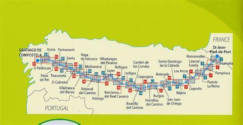 tappe camino de santiago wandelkaart camino de santiago st jean pied de port