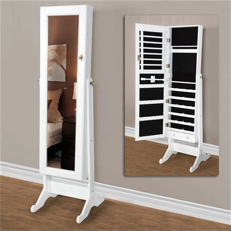 stand up jewelry armoire bedroom wonderful stand up mirror jewelry armoire where
