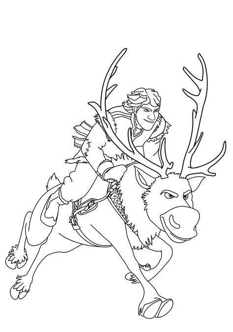frozen coloring pages olaf and sven coloring frozen kristoff sven jpg 2372 215 3371