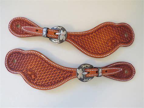 Handmade Spur Straps - 8904 new handmade brandon house basket st spur straps
