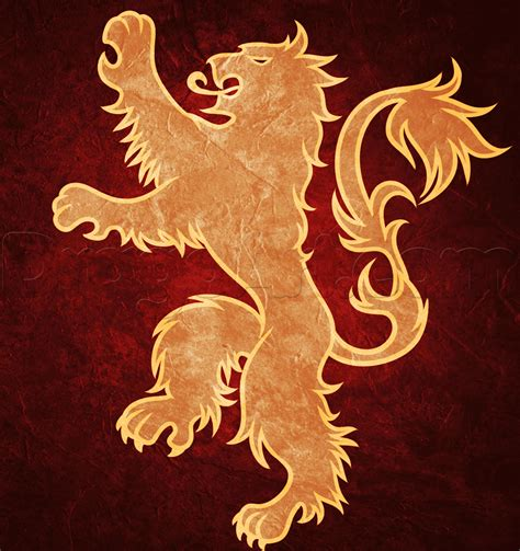 house lannister how to draw house lannister logo step by step symbols pop culture free online
